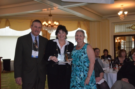 Pictured from left to right: MWVCC past president, Bob Carper; Executive Director of the White Mountain Community Health Center, Patricia McMurray and MWVCC Executive Director, Janice Crawford celebrate the Community Center's win for Non-Profit of the Year at the 2012 Business to Business Expo.