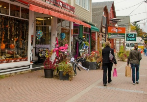 Shopping in North Conway Village, NH