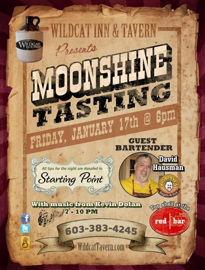Moonshine Tasting at Wildcat Tavern!