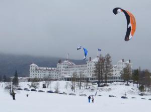 Kite Skiing at Bretton Woods