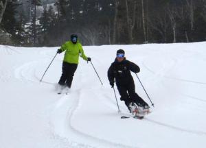 Fresh tracks at Bretton Woods, March 11. Photo by: Mark Butterfield/Bretton Wood, Omni Mount Washington Resort.