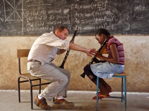 C4C Quartet presents performances will feature classical and contemporary works for clarinet quartet by Jean Francaix, Alfred Uhl, and Brett Wery. In addition, members of the quartet will share stories of their work with the students of Korongoni Secondary School in Moshi, Tanzania