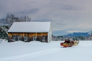 A late afternoon sleigh ride with Fireside Sleigh Rides.  Photo by: Dan Houde/Wiseguy Creative.
