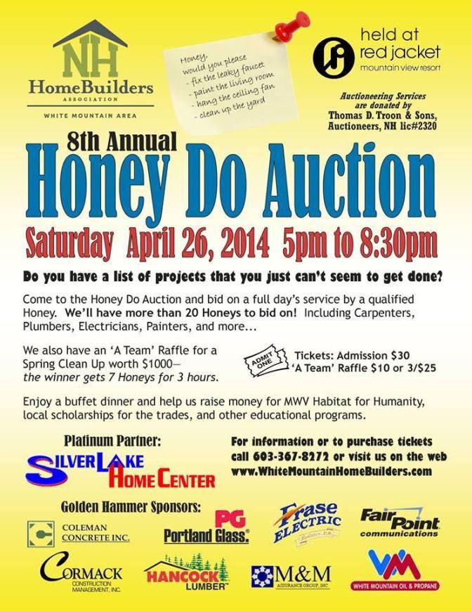 Honey-Do Auction Tomorrow!