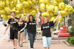Cara Chase Photo Michael Kline Nancy Russo and Mary Ellen Holmes lead the parade of Smiles