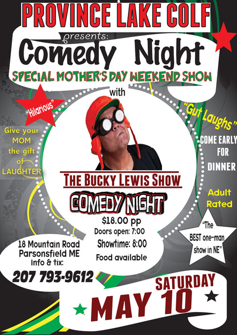 Comedy Night at Province Lake Golf Course!
