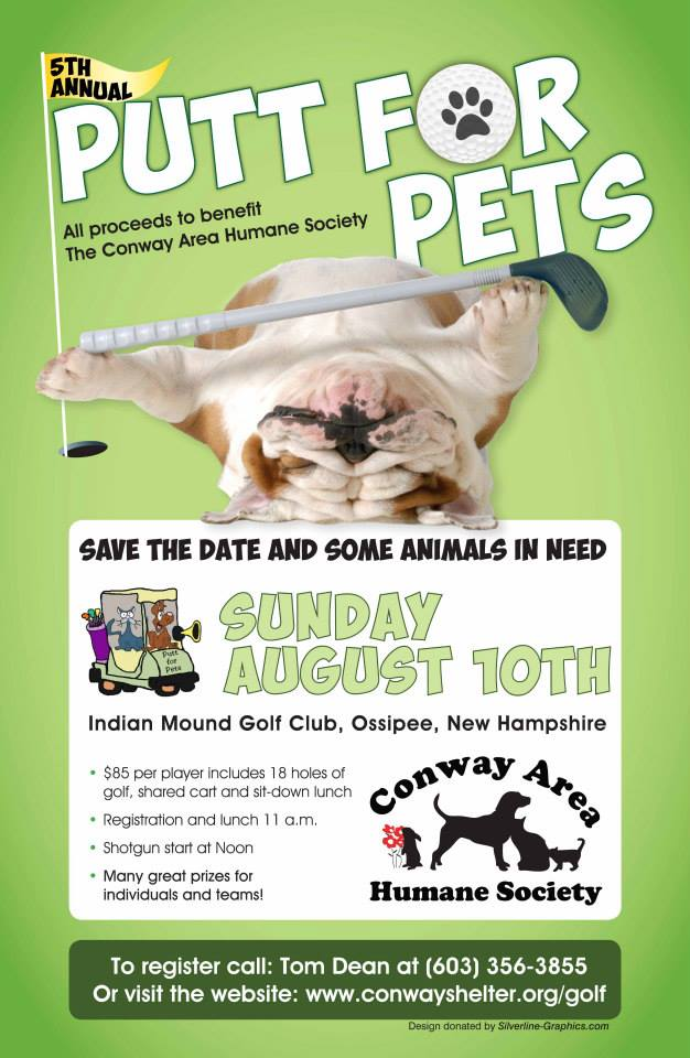 Participate in the Conway Area Humane Society's Putt for Pets