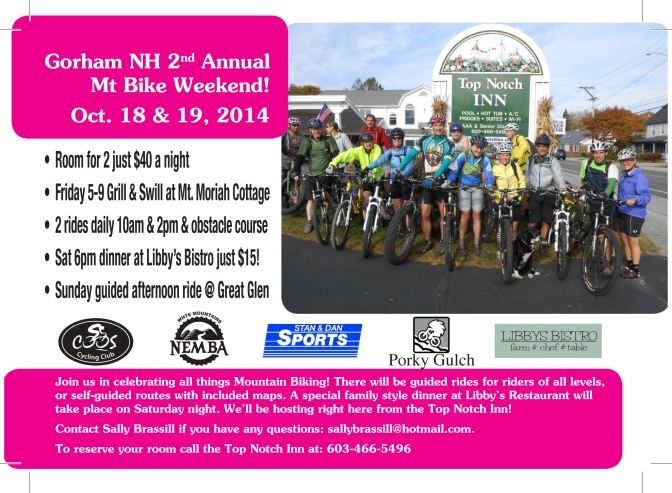 Gorham NH Mountain Bike Weekend!