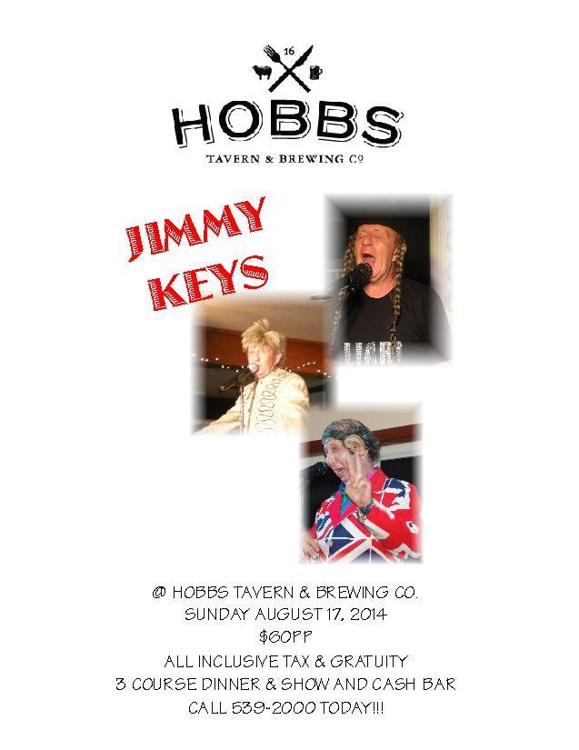 Jimmy Keys Playing at Hobbs Tavern THIS SUNDAY!