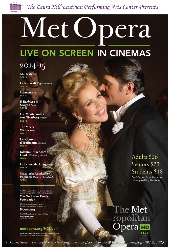 Met Opera Live at Leura Hill Performing Arts Center