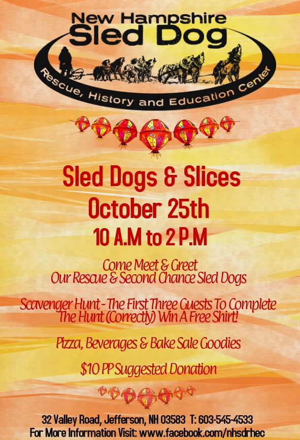 Final Sled Dogs & Slices Poster