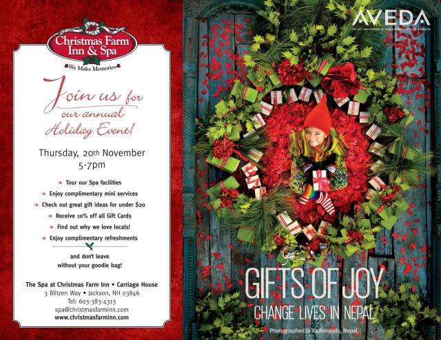 Aveda Holiday event