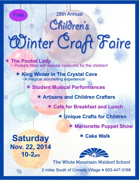 White Mountain Waldorf School Children's Winter Craft Faire