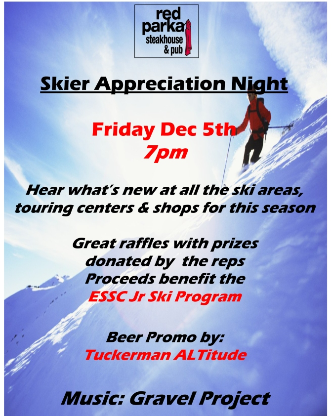 Skier Appreciation Night at Red Parka Pub!