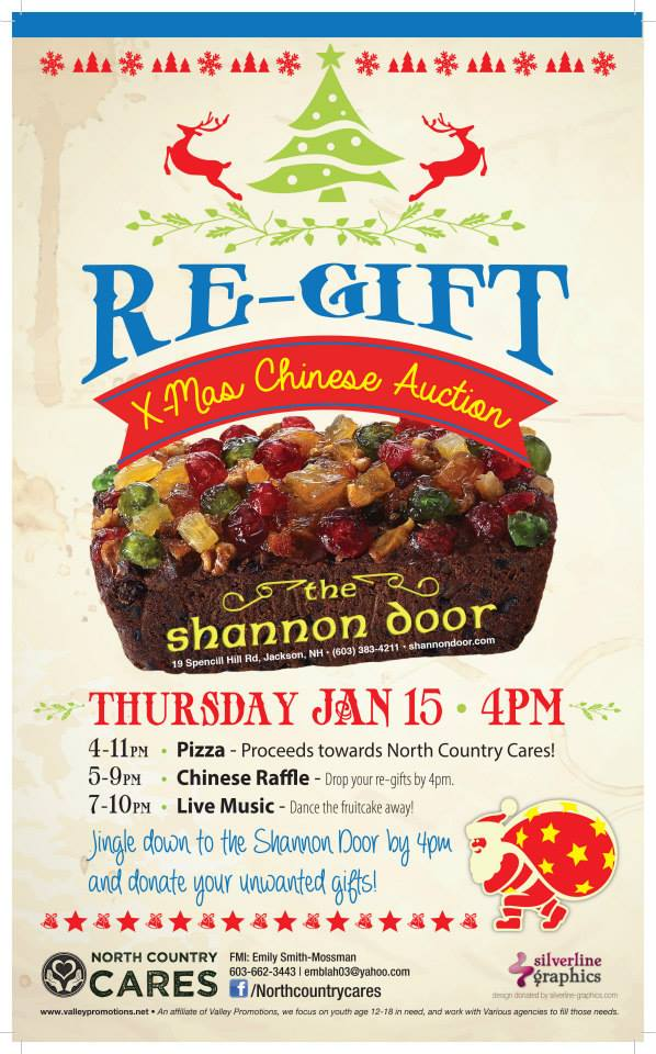 Holiday Re-gifting at Shannon Door Pub! | In and Around Mt. Washington Valley NH & Holiday Re-gifting at Shannon Door Pub! | In and Around Mt ...
