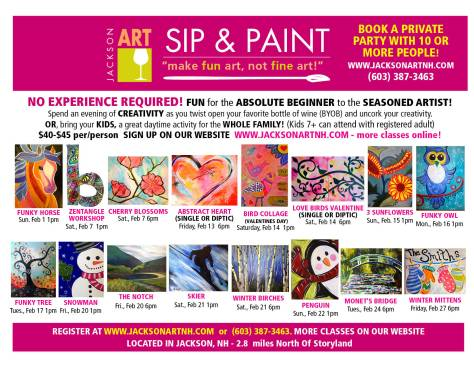 2015 February Sip & Paint Poster