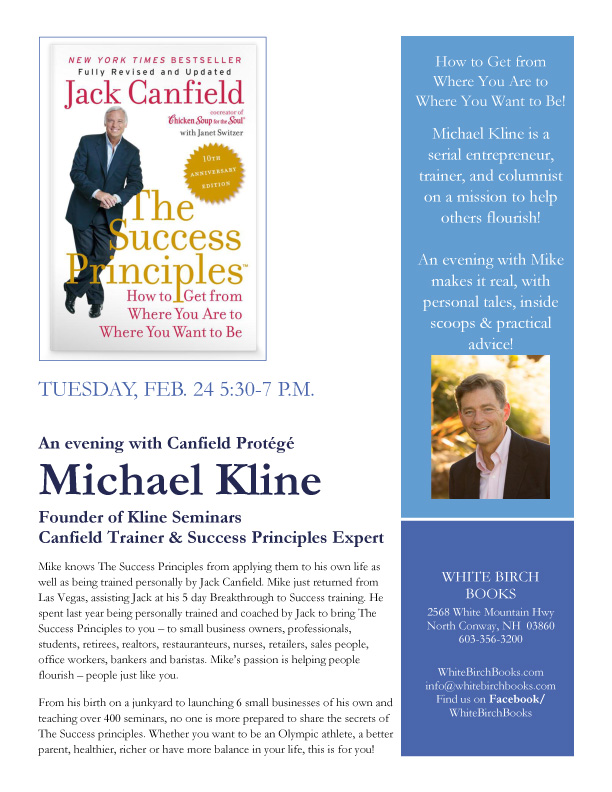 An Evening with Jack Canfield Protoge, Michael Kline