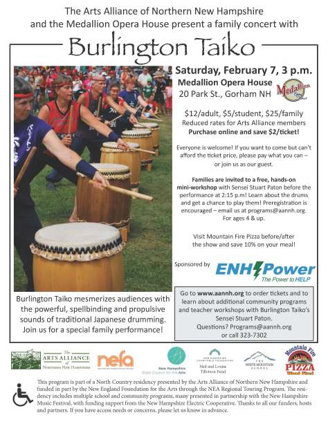 Burlington Taiko poster