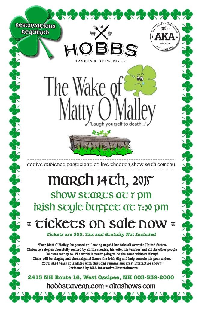 The Wake of Matty O'Malley at Hobbs Tavern