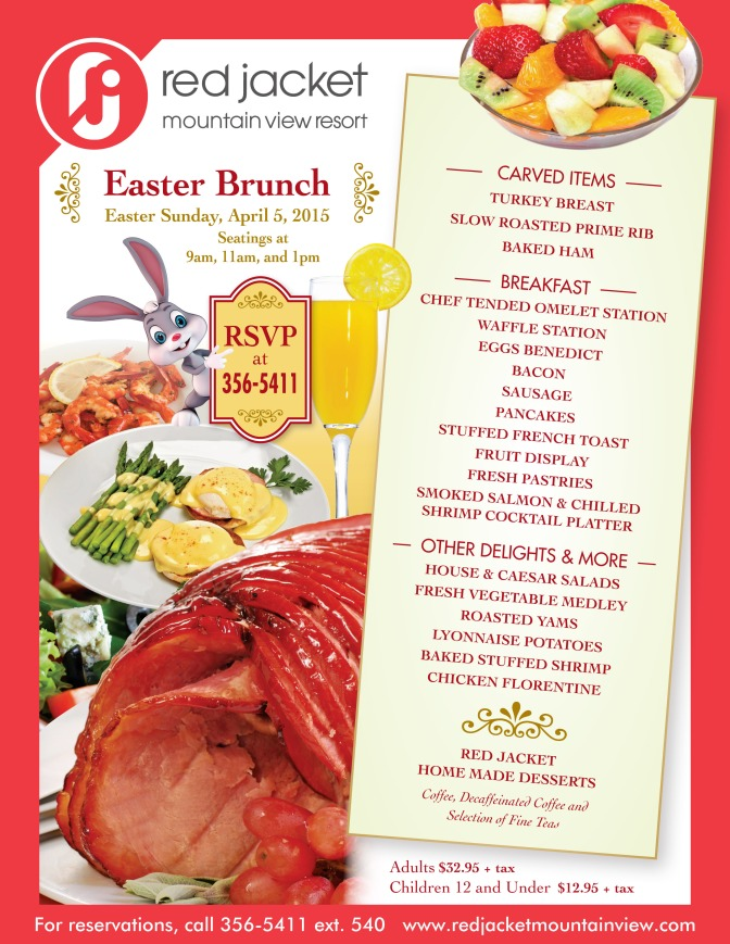Easter Brunch at the Red Jacket Mountain View Resort