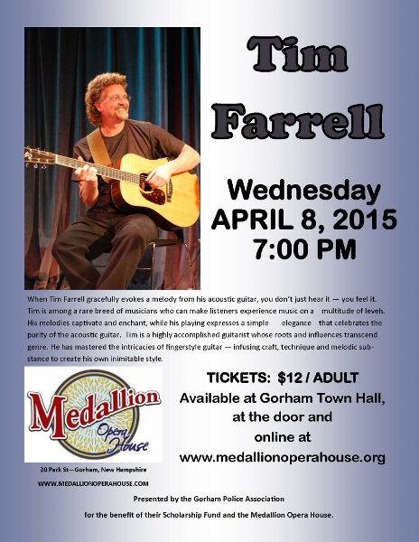 Listen live: Tim Faerrell at Medallion Opera House