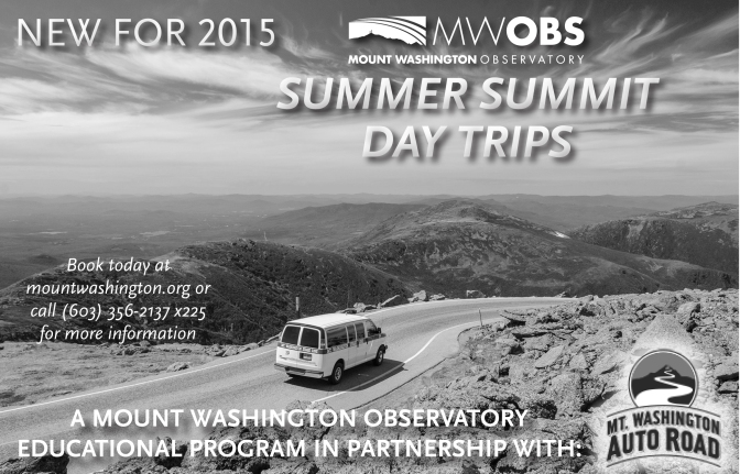 Mount Washington Observatory and the mount washington auto road team up to offer educational day trips