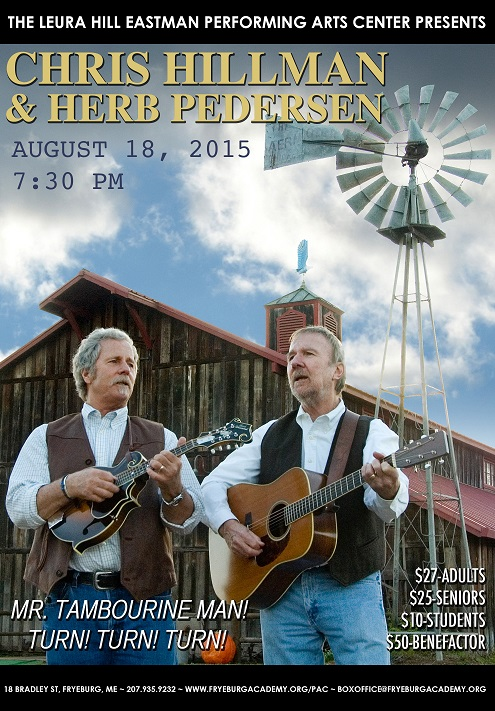 Chris Hillman and Herb Pederson perform at Leura Hill Eastman PAC