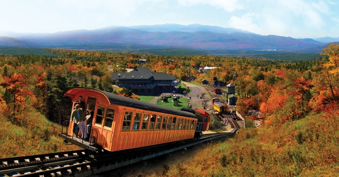 Fall Colors Start Early at The Mount Washington Cog Railway