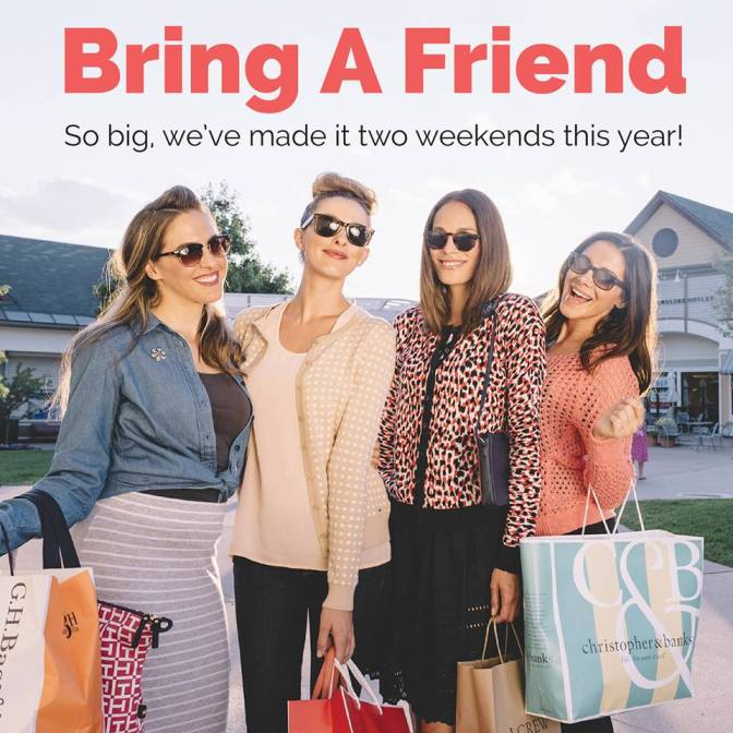 Settlers Green announces two Bring a Friend Shopping Events