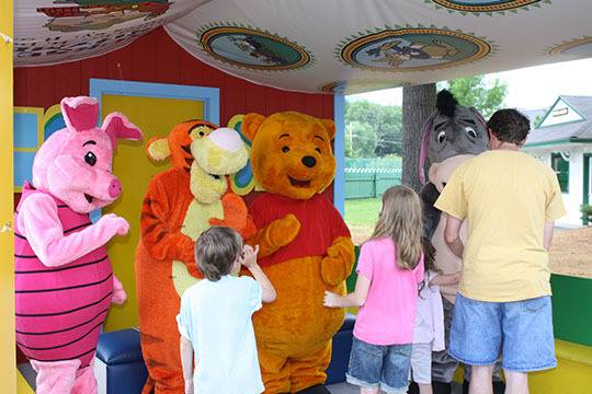 Bring the kids to visit with Winnie the Pooh at Storyland this weekend