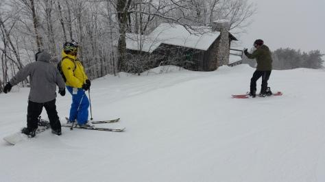 Gibson cabin at summit