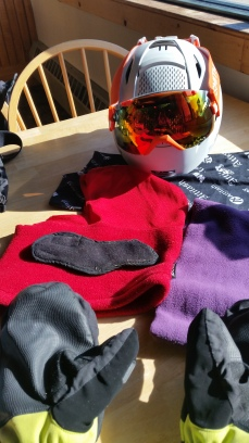Just a few of the layers necessary to make cold weather skiing comfortable
