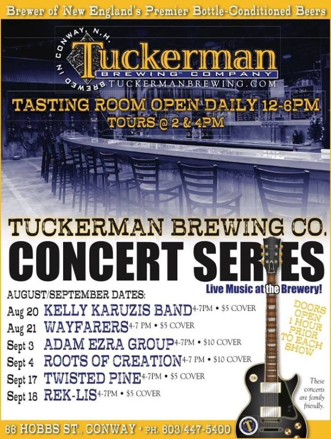 Tuckerman Brewing Company Live Music Series this weekend