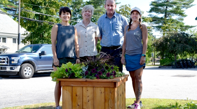 Flower Pots in North Conway Village Get a Facelift