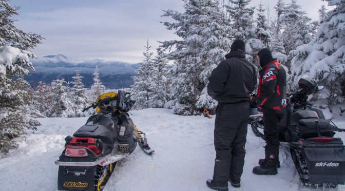Snowmobile in the Mt. Washington Valley, NH!