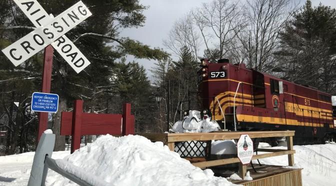 All aboard the Snow Train at Conway Scenic Railroad